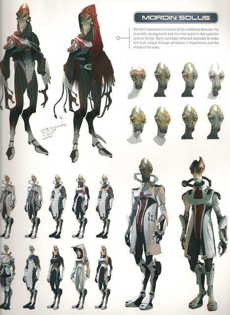 Me2 Artbook Concepts Garrus And Mordin Mass Effect Pinterest