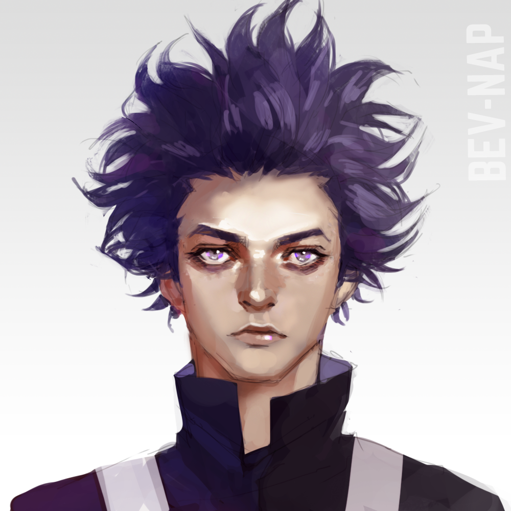 Shinsou By Bev Nap Blue Anime My Hero Down Hairstyles