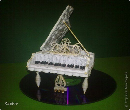 Master Class for all the dream home - a quilled piano - Russian