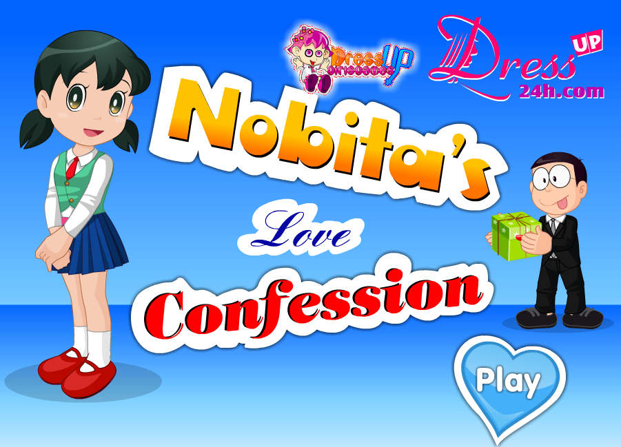 Nobita Love Confession Dress Up Games By Dressup24h Com Love Confessions Confessions Barbie Dress Up Games