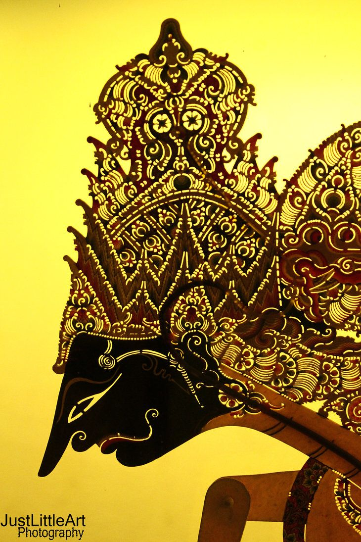 Wayang Shadow Puppets used in Javanese theatre.