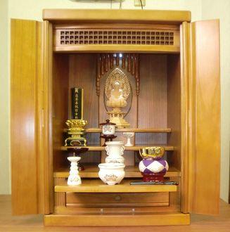 Buddhist Altars In The Home Rakuten Modern Buddhist Altars 39 Halo 39 Brown Luxury Paulownia