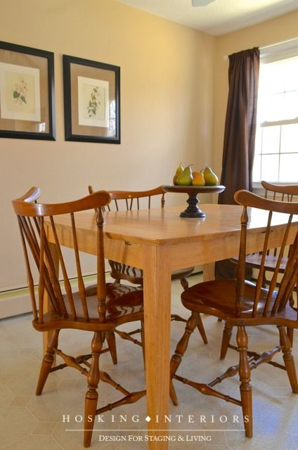 Staging A Kitchen Eat In Area With Images Dining Table Home