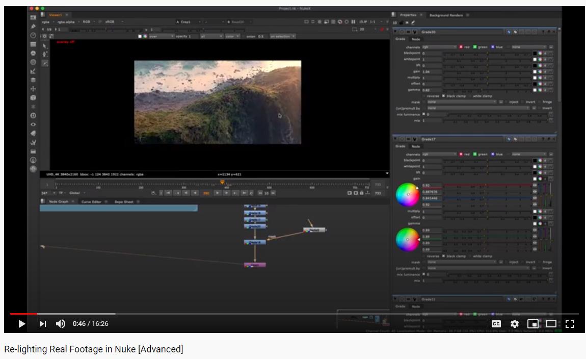 Re Lighting Real Footage In Nuke Advanced Intro Tutorial Fundamental [ 704 x 1150 Pixel ]