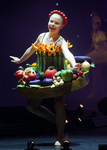 A model presents a creation titled 'Ratatou-Tu' by New Zealand's Liz Ritchie during the World of Wearable Arts show in Wellington.