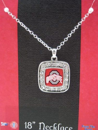 Amazon Com Officially Licensed Ohio State University Buckeyes Square Crystal Studded