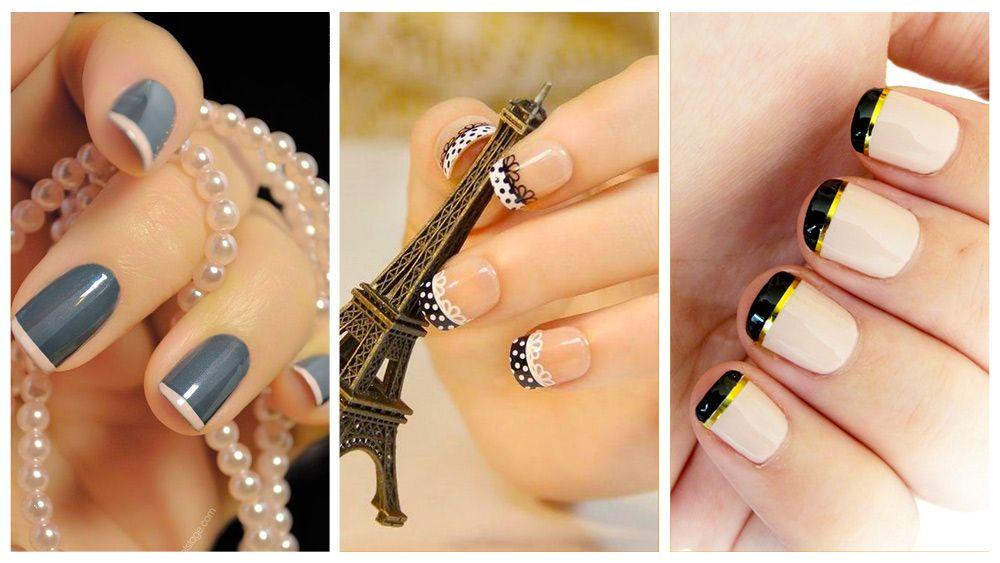 Uñas francesas o uñas french. Más de 70 fotos con diseños ...