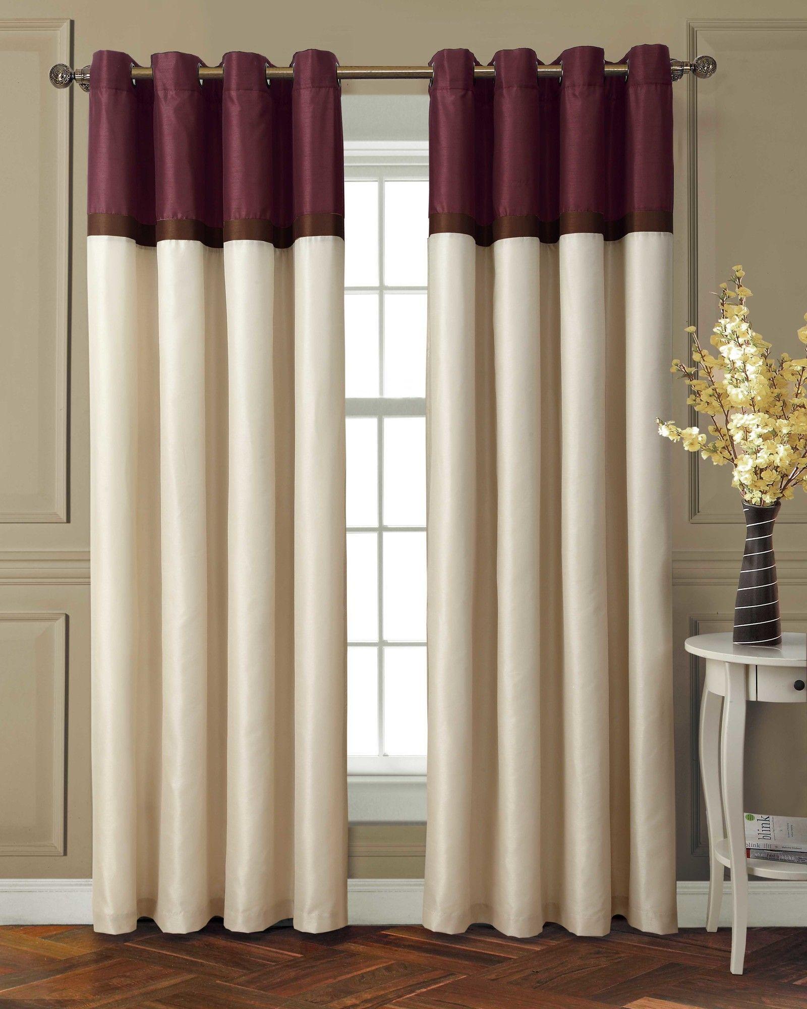 Garden window coverings  laura grommet single curtain panel  products  pinterest  grommet