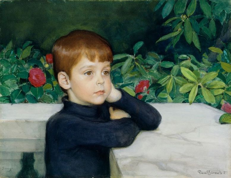 Eero Järnefelt (1863–1937)  Title  English: Portrait of the Artist's Son Suomi: Taiteilijan pojan muotokuva (Heikki Järnefelt) Svenska: Porträtt av konstnärens son Date 1887