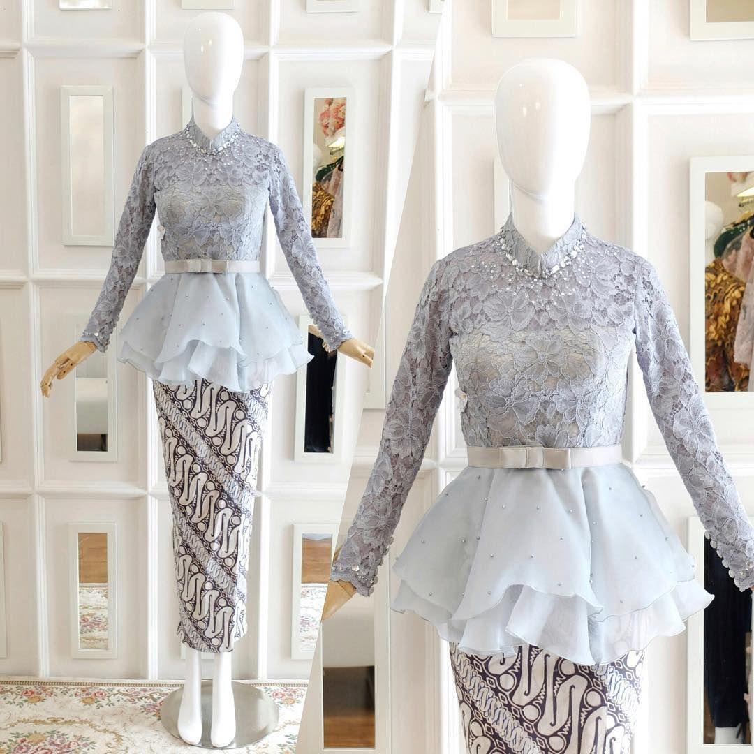 Double peplum icy grey kebaya ❄️  Fashion, Diy wedding dress
