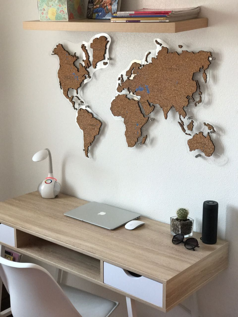 Cork World Map By Gadenmap Push Pin Travel Map For Wall Office Decor Bedroom Living Room Kid S Room Decorating Uniq Travel Room Decor Decor Map Wall Decor