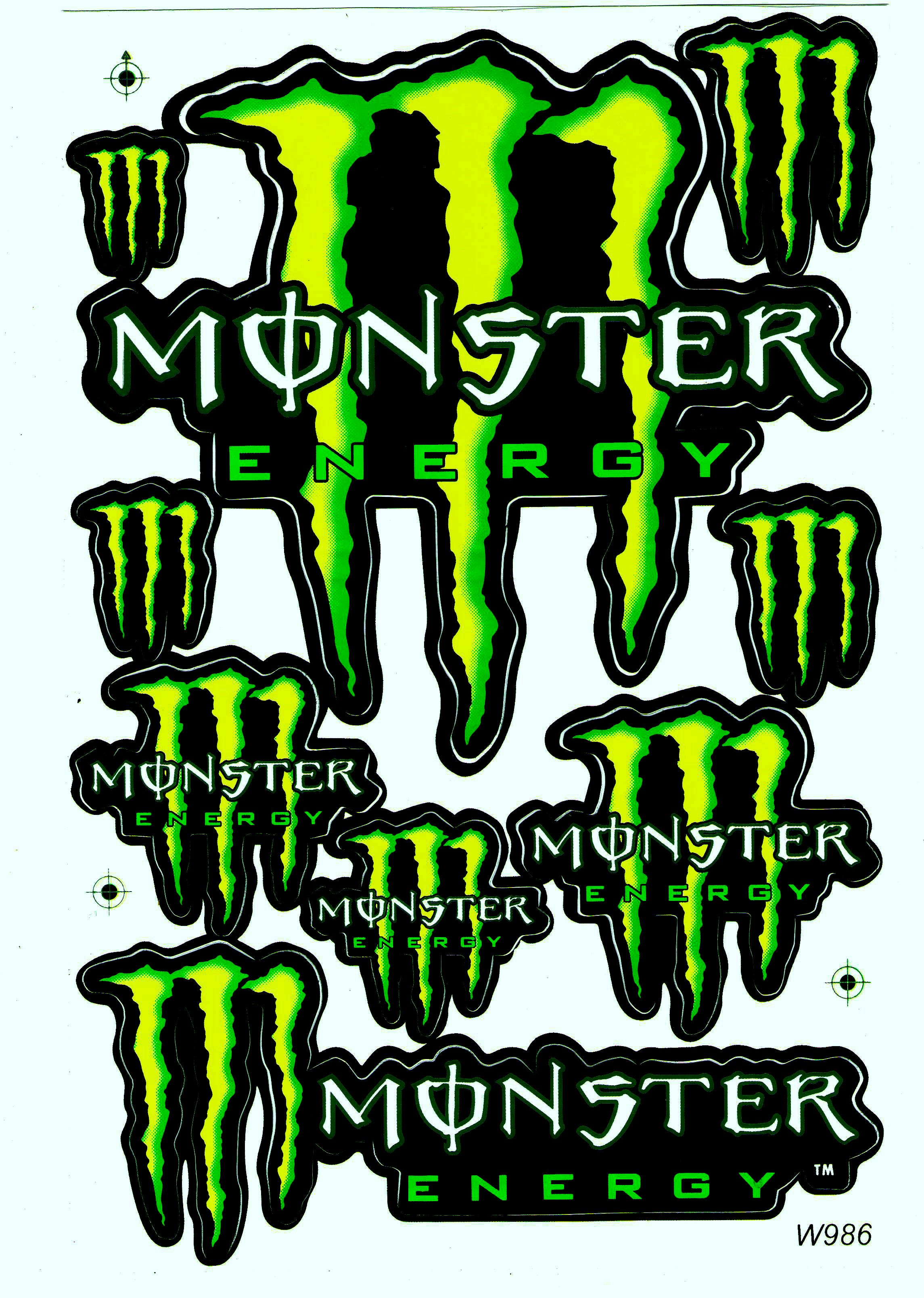 Monster Sticker Racing Tuning Auto Aufkleber Monster