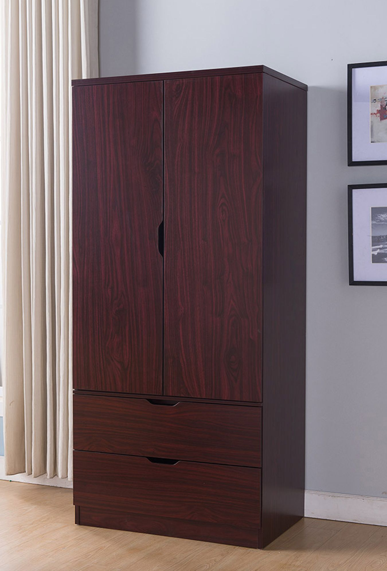 K16010 Wardrobe Can Accommodate Any Bedroom Or Any Space That Requires More Storage You Will Wooden Storage Cabinet Wooden Storage Storage Closet Organization