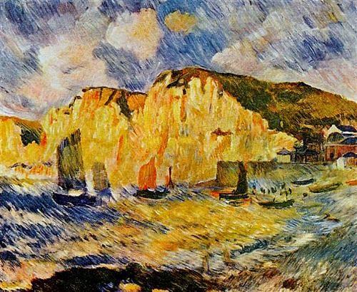 Cliffs - Pierre-Auguste Renoir