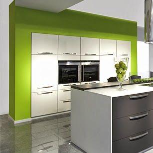 Cocinas Verdes Con Blanco