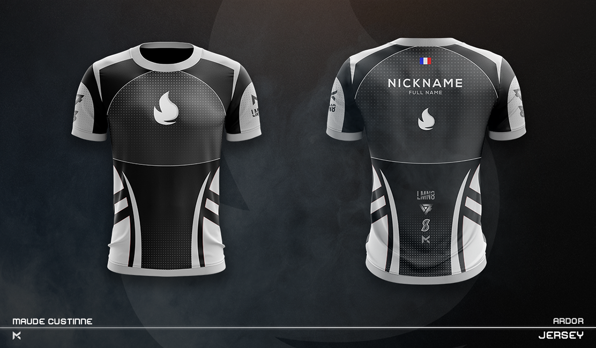 Jersey Esport Team Mockup On Behance Sports Jersey Design Sport Shirt Design Jersey Design