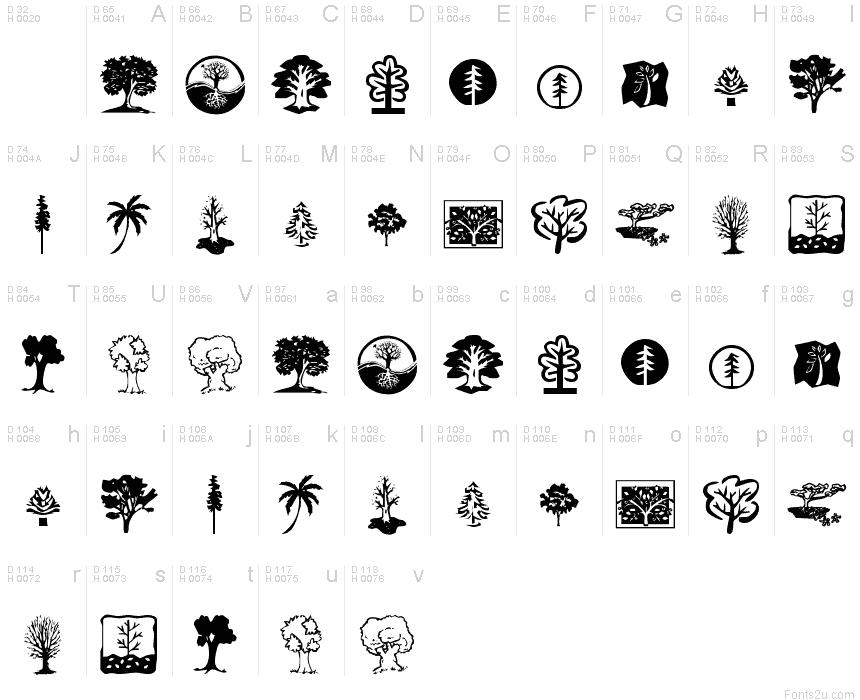 Tree Dingbat Fonts Dingbat Fonts Fonts Tree