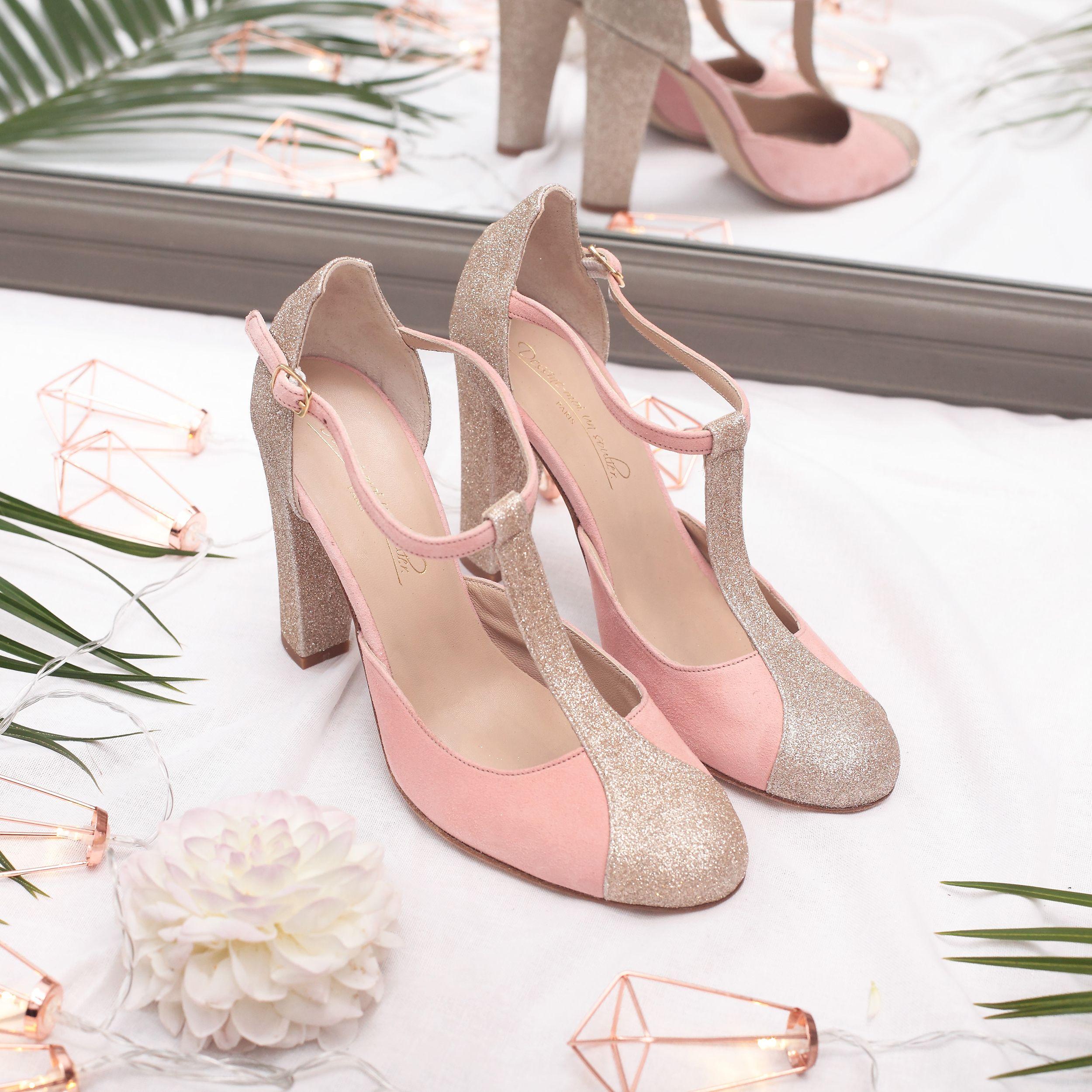 Chaussure salomé blanche talon sur mesure pour mariage