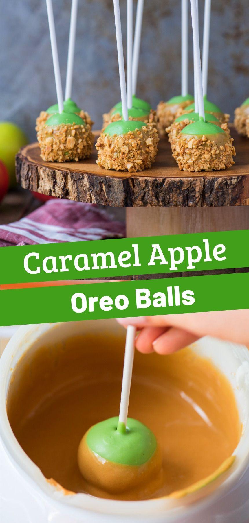 Caramel Apple Oreo Balls
