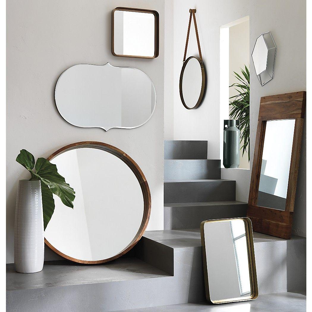 Black vanity salons vanities habitats the mirror outlets mirror - Acacia Wood 40 Mirror