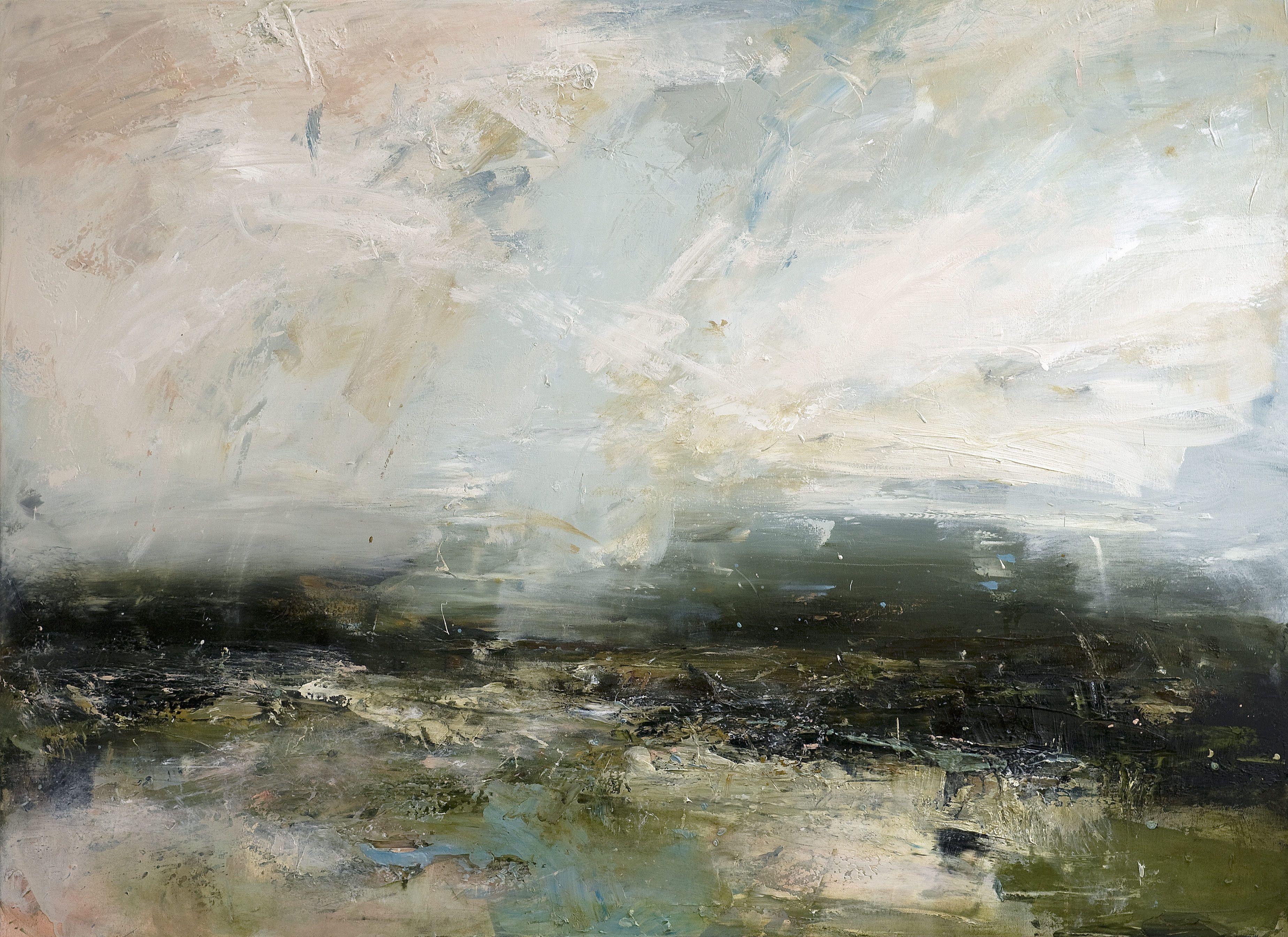 Celestial 2015 oil on canvas 95cm x 130cm by Dion Salvador Lloyd http://www.dionsalvador.co.uk