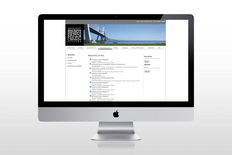 Web site http://www.e-dna.it/portfolio-item/architetti-bergamo-sviluppo-sito-internet
