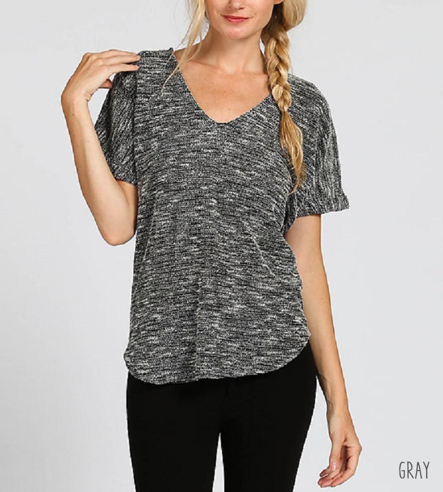 Ava Knit Top | This slouchy v-neck top is a lovely addition to your minimalis... | Shirts & Tops