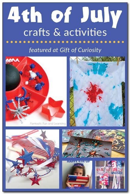 4th of July crafts and activities for kids. Keep your kids entertained and learning while engaging in some patriotic crafts and activities to celebrate America's declaration of independence! #IndependenceDay || Gift of Curiosity