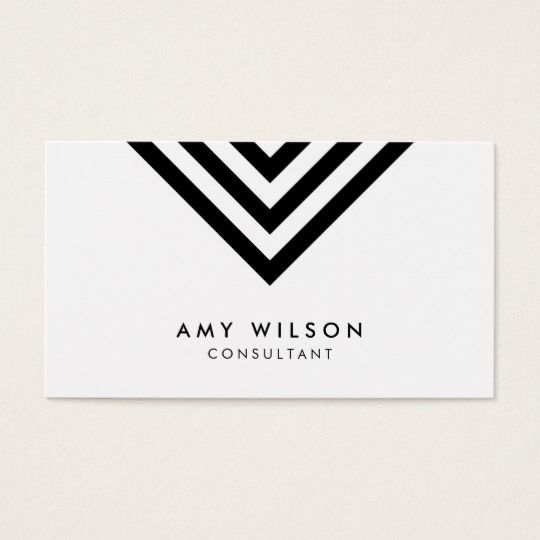 White minimalist black chevron geometric business card by rosewood white minimalist black chevron geometric business card by rosewood and citrus on zazzle reheart Images