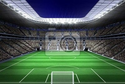 Large Football Stadium With Lights Wall Mural Pixers We Live