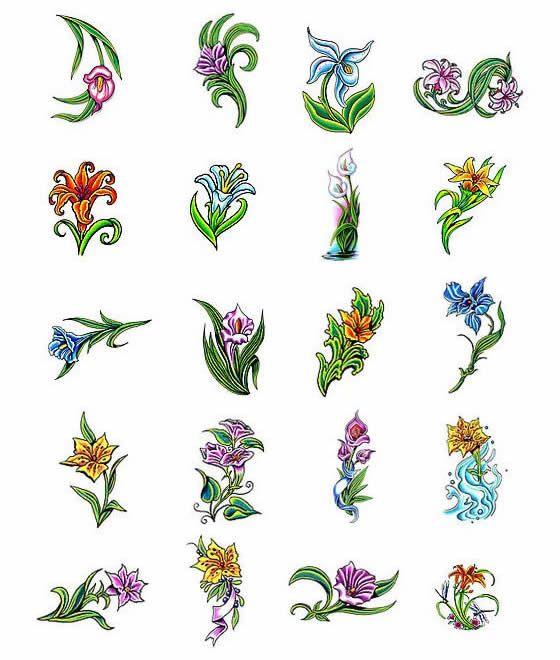 lilly flower tattoo designs from tattooartcom lillian