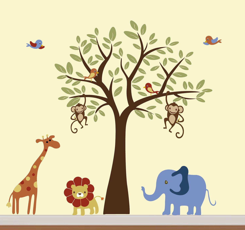 Childrens Vinyl Tree Decal Animal Vinyl Wall Art by NurseryWallArt ...