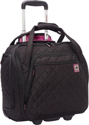 Delsey Quilted Rolling Underseat Tote Black Via Ebags