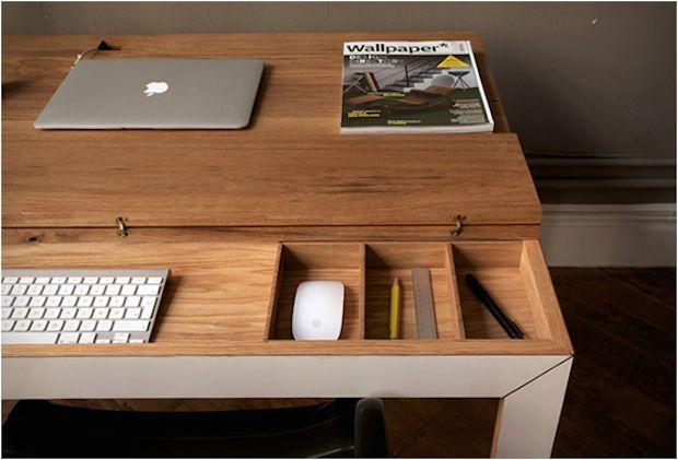 Bureau minimaliste en bois soren rose furnicher a and interior