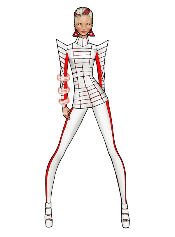 Commander Shepard from Mass Effect reinterpreted by a fashion illustrator- not a huge fan of Mass Effect but this is still cool.