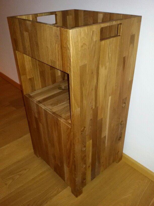 learning tower h henverstellbarer lernturm f r kinder z b in der k che holz eiche ge lt. Black Bedroom Furniture Sets. Home Design Ideas