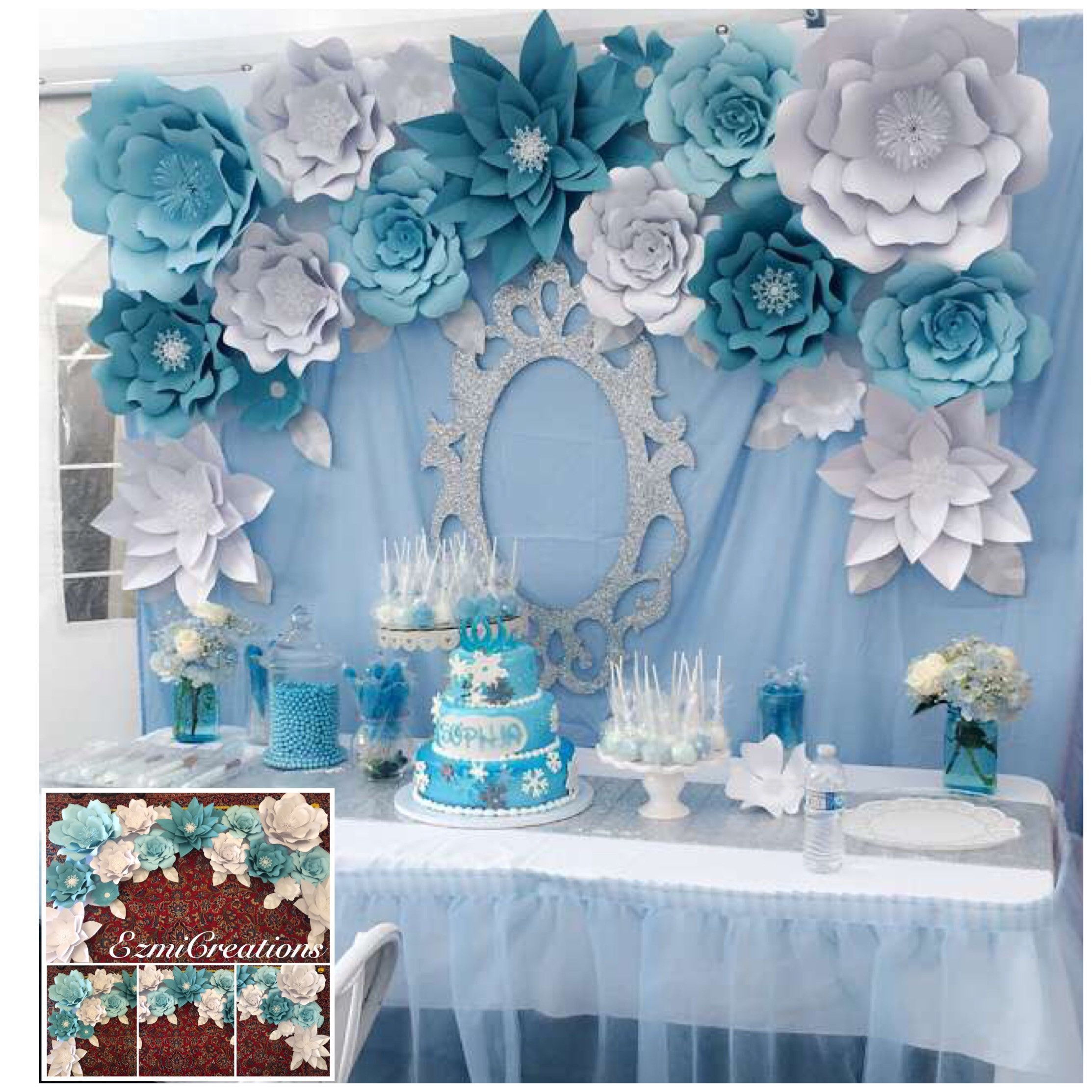 Diy kit frozen theme backdrop decoracion de eventos pinterest
