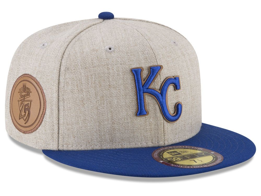 finest selection cbbda 7f602 Kansas City Royals New Era MLB Leather Ultimate Patch Collection 59FIFTY Cap