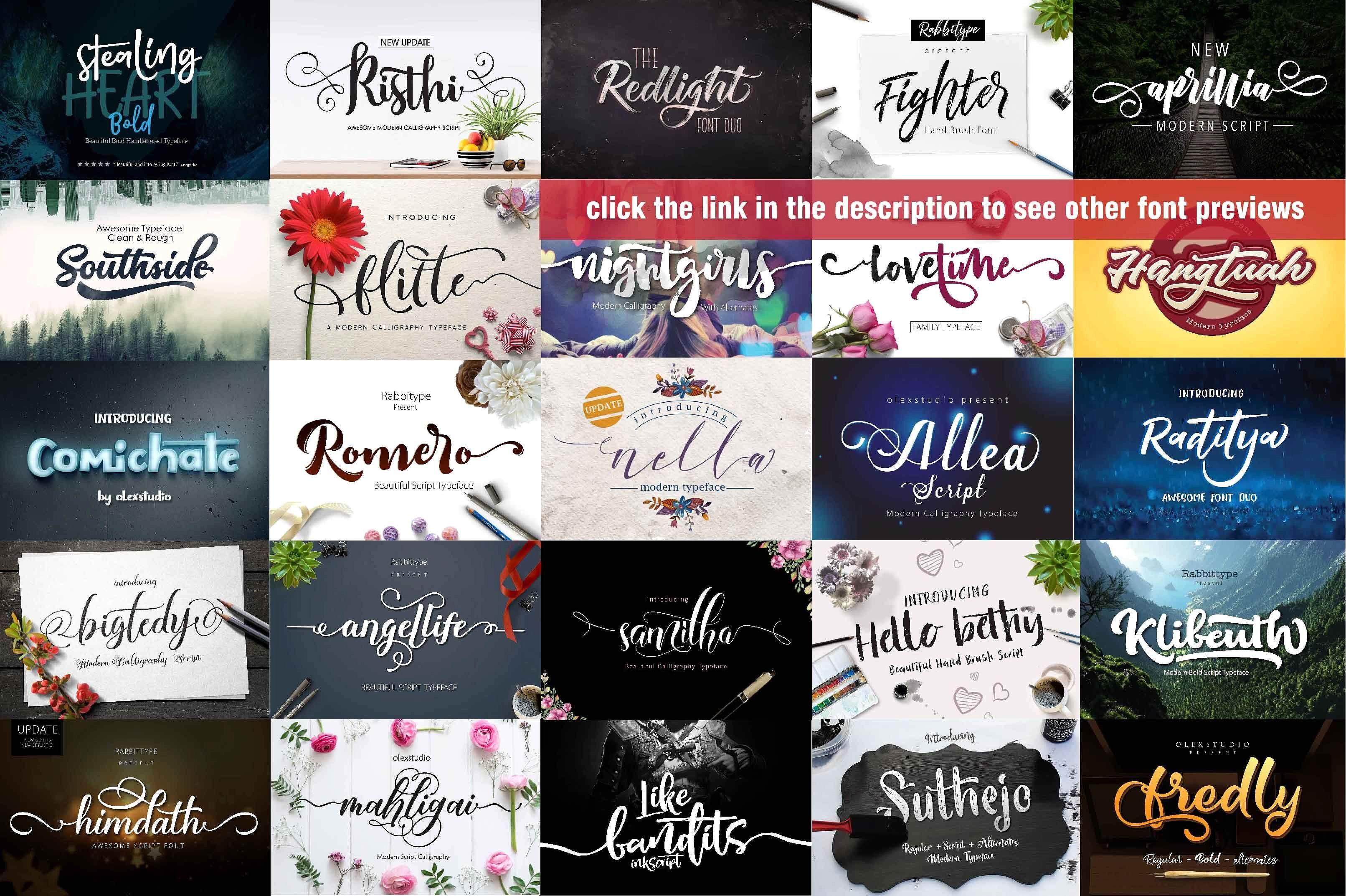 Font Bundle 2018 Font Bundles Web Design Tutorials Photo Overlays