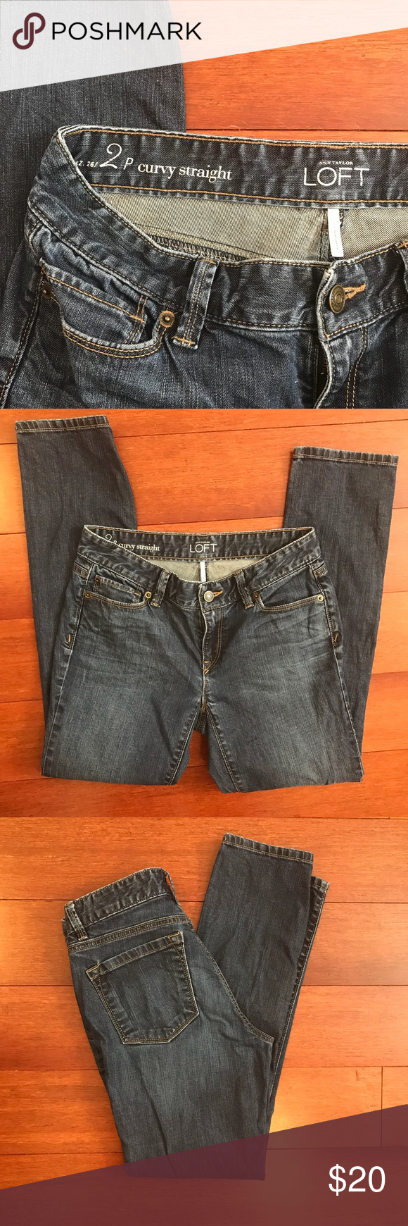 Loft 2p curvy straight jeans Loft 2P Curvy Straight jeans LOFT Jeans Straight Leg
