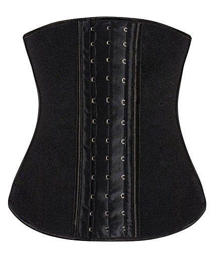 ff4e7fef0d6 YIANNA Women s Latex Sport Girdle Waist Training Corset Waist Body Shaper  at Amazon Women s Clothing store