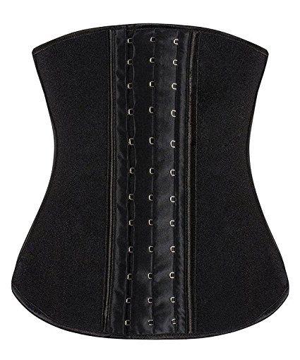 fb545e87118 YIANNA Women s Latex Sport Girdle Waist Training Corset Waist Body Shaper  at Amazon Women s Clothing store