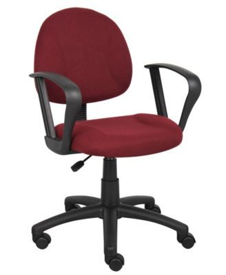 Boss Office Products Mid Back Ergonomic Task Chair   Gray