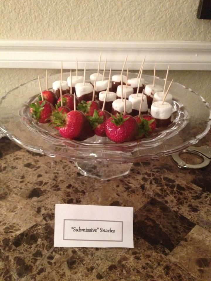 fifty shades of grey party ideas submissive snacks for desserts