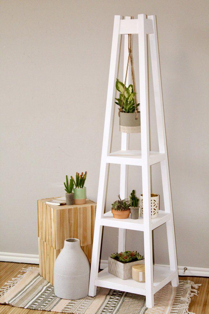 DIY Pflanzenständer mit 3 Ebenen für Pflanzen   -  #DIY #Pflanzenständer #diyplantstand