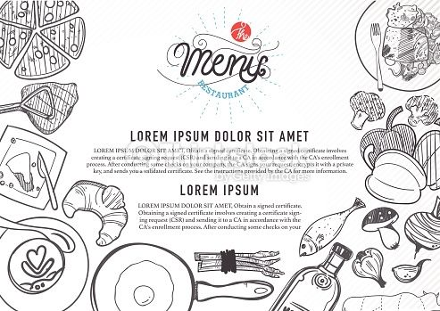 Vector Art  vector food design template menu restaurant brochure - restarunt brochure
