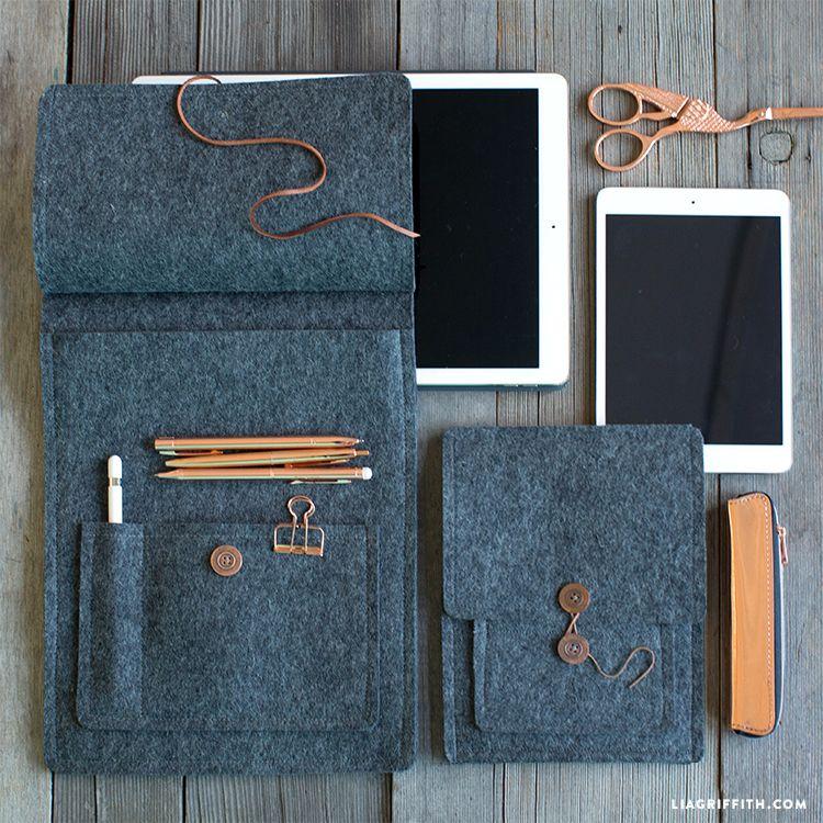 Make Your Own Felt Tablet Cover Felt diy, Felt crafts