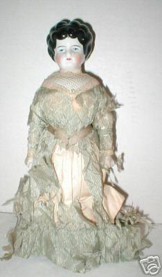 "10 5"" Germany China Head Pin Cushion Doll on Wood Base   eBay"