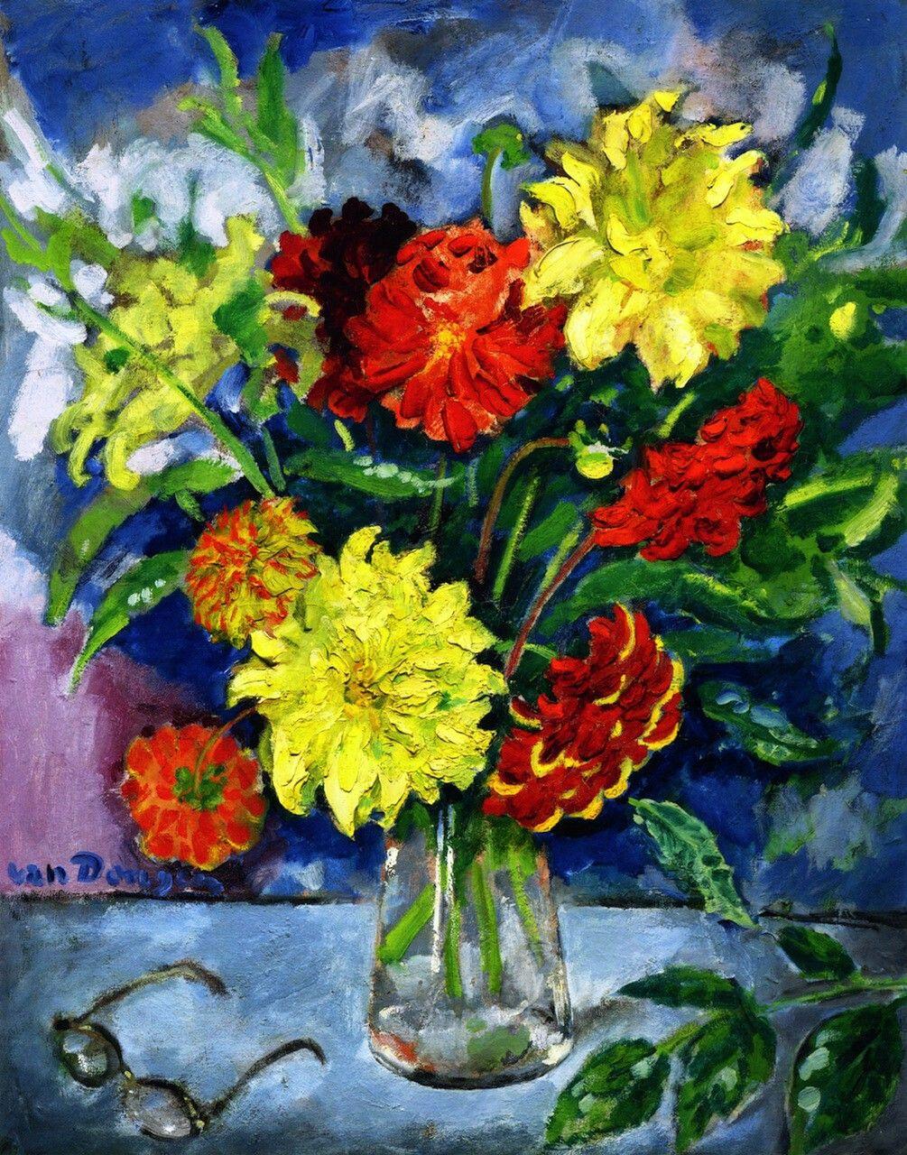 Bouquet of Dahlias Artist: Kees Van Dongen Year: 1908 Type: Oil on canvas