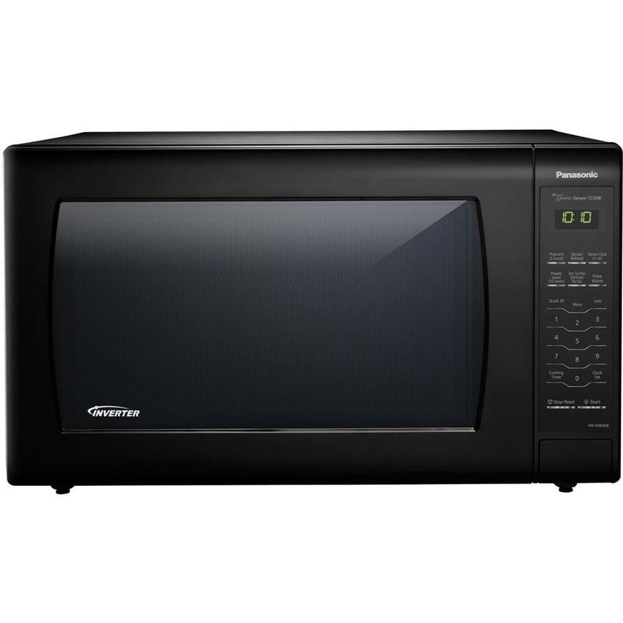 Panasonic 2 2 Cu Ft 1250 Watt Countertop Microwave Black Nn